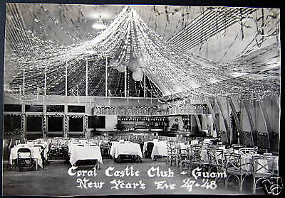 1947 Guam Us Territory Coral Castle Club New Years Eve