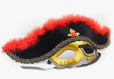 Halloween Ball Eye Pirate Dragon Velveteen Masquerade Mask.