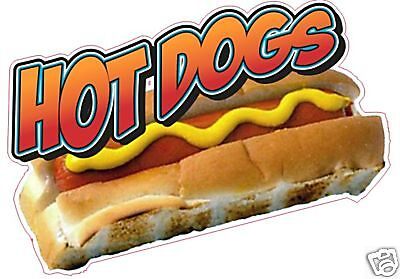 Concession Hot Dog Cart Food Restaurant Sign Decal 12