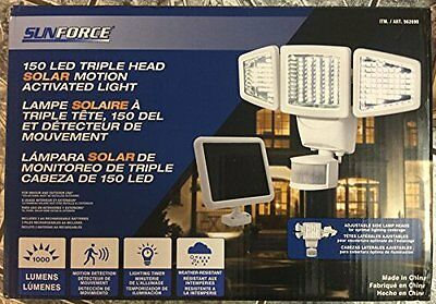 SunForce 150 LED Triple-Head Solar Motion Activated Security Light 1000 Lumens