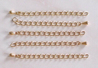 20 gold plated extender chains with toggle end, 60mm