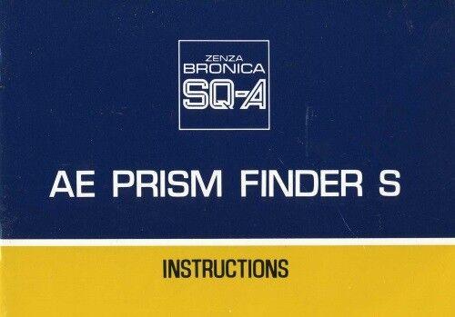 Bronica AE Prism Finder S for SQA Instruction Manual  Original