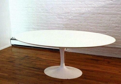 saarinen oval dining table ebay. Black Bedroom Furniture Sets. Home Design Ideas