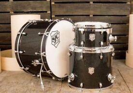 AS NEW SJC Custom 22x14, 12x8, 16x14 maple in Black Glass Sparkle