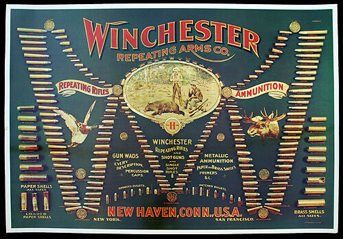 Winchester Double W Cartridge Board Reproduction West Arms Library