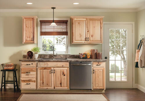 Rustic Hickory cabinets | plumbing, sinks, toilets, showers ...