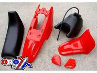 New YAMAHA PW 50 Plastics Plastic Kit Tank Seat Front & Rear Fender Red