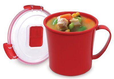 Sistema Microwave Soup Mug - 656 ml, Red 1107