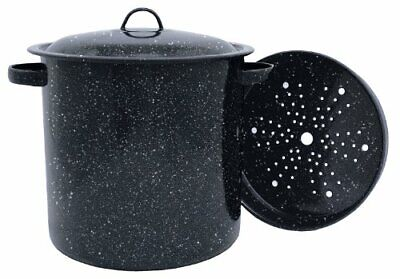 Tamale Pot with Steamer Insert 15.5 Quart Durable Chip Resistant Clean up easily