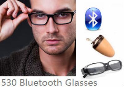 EDIMAEG 530 Bluetooth Glasses & Covert Wireless Earpiece tiny invisible earbud