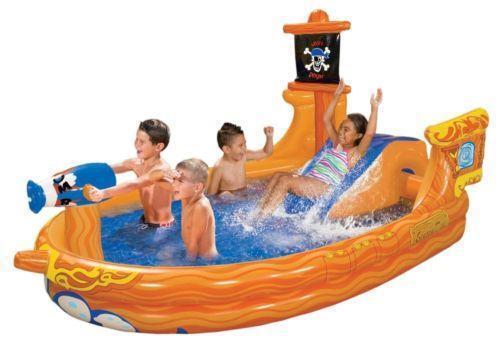 Pirate ship pool ebay - Inflatable pirate ship swimming pool ...