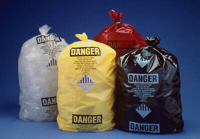 Clear Printed OSHA Asbestos Disposal Bags Poly 6 Mil - 33 x 50 - Roll of 50