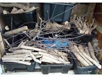 Well-seasoned fire logs - firewood
