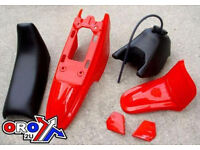 New YAMAHA PW 50 Plastics Plastic Kit Tank Seat Front & Rear Fender Red