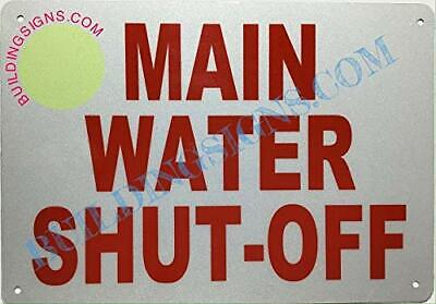 Main Water Shut-off Sign Reflective -rust Freewhite Size 7x10-ref0420
