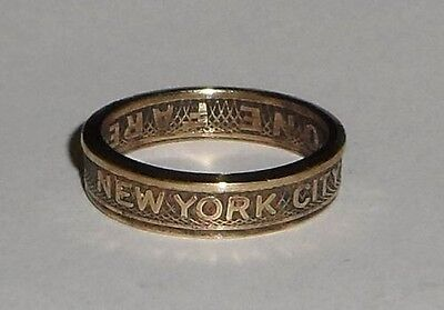 Sealed  New York City Subway Token Coin Ring Size 4 11