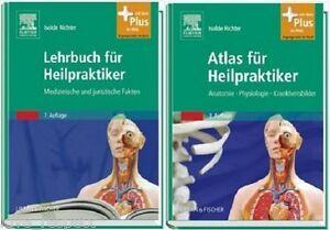LEHRBUCH + ATLAS FÜR HEILPRAKTIKER, Richter, PAKET für Ausbildung, NEU/OVP