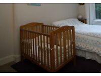 Mothercare drop sided cot