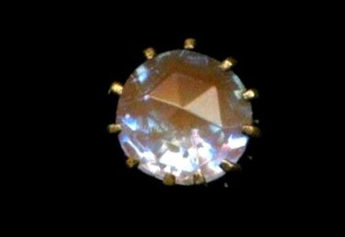 Antique Button…Sparkly Faceted SAPHIRET Diminutive Dimi