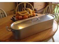 Aluminium fish poaching / steaming pot 71 cm long