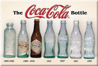 USA Coca Cola Kühlschrank Magnet Vintage Flaschen Magnetschild