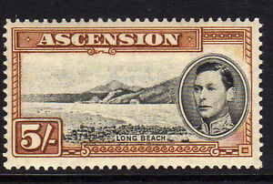 ASCENSION-1938-53-5-BLACK-YELLOW-BROWN-PERF-13-SG-46-MNH