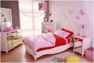 PERFECT FOR A PRINCESS! WHITE COMBI BED AT SLEEP PARADISE!
