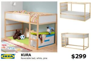Ikea kid bunk bed and tent
