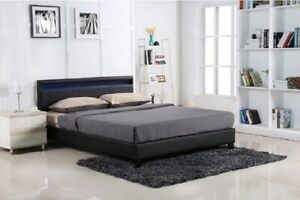 MEVANTI LED MOTO BED FRAME DOUBLE QUEEN SIZE