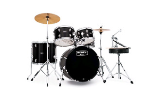 Rebel 5-Piece Drum Set With Complete Jazz with Fast Size Toms