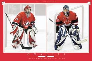 NHL HOCKEY POSTERS GOALIE COLLECTION #1 - BRAND NEW!!