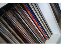 """large vinyl record collection rock pop 70's 80's era 7"""", 12"""" and albums"""