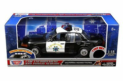 73501 Motormax 1//18 CHP California Highway Patrol Police Ford Crown Vic CHiPS
