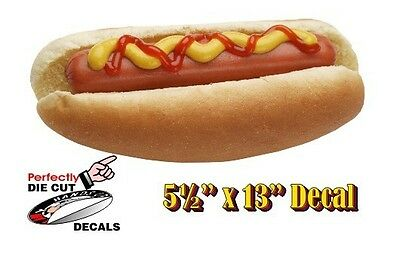 Ketchup Hot Dog 5.5x13 Decal Sign For Hot Dog Cart Or Concession Stand Menu