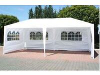 BRAND NEW 3 metres x 9 metres WHITE WATERPROOF OUTDOOR GARDEN GAZEBO PARTY MARQUEE