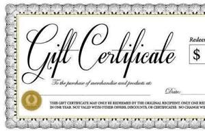 "$300 ""The Inkery Tattoo"" Gift Certificate"