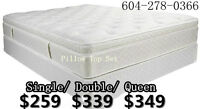 █★QUEEN BRAND NEW NICE EURO-TOP MATTRESS AND BOXSPRING $349