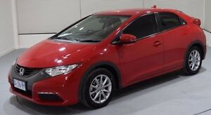 2014 Honda Civic 9th Gen MY14 VTi-S Red 6 Speed Manual Hatchback Invermay Launceston Area Preview