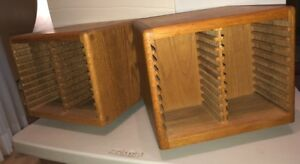 Solid Oak Compact Disc Holders