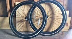 700c single speed / fixed gear wheel set w/ flip flop hub BLACK