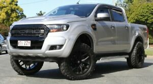 2017 Ford Ranger PX MkII 2018.00MY XLS Double Cab Silver 6 Speed Manual Utility Southport Gold Coast City Preview