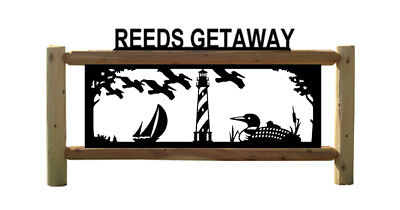 PERSONALIZED LOON SIGNS - LIGHTHOUSES - WATERFOWL - CLINGERMANS OUTDOOR SIGNS