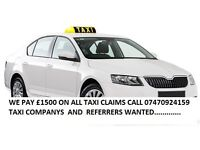 TAXI COMPANYS AND REFERRERS WANTED FOR RTA CLAIMS