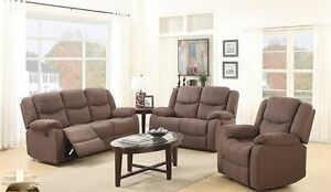 3 piece recliner set, mocha or chocolate, NEW in boxes!!!