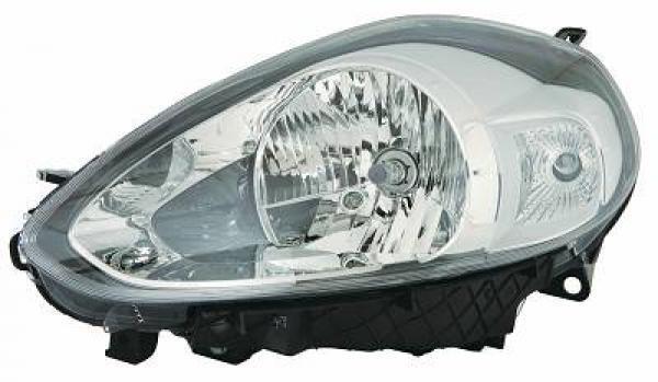 Scheinwerfer rechts FIAT PUNTO EVO 09- VALEO H4+P21W verchromt mit licht d