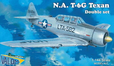 T-6G Texan in USAF, Belgian, Italian, French (TWO 1/144 model kits, Valom 14409) for sale  Poughkeepsie
