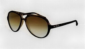 Ray Ban RB4125 Cats Sunglasses Tortoise Frame Crystal Brown Grad