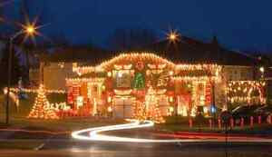 Free holiday lighting and or window painting quote