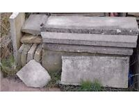 coping stones broken and whole