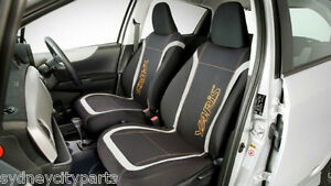 TOYOTA YARIS SEAT COVERS FRONT NEOPRENE VEST TYPE 5 DOOR HATCH SEPT 11 - JULY 14